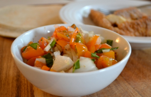 Fish Tacos with Sungold Tomato and Orange Salsa | Tending ...