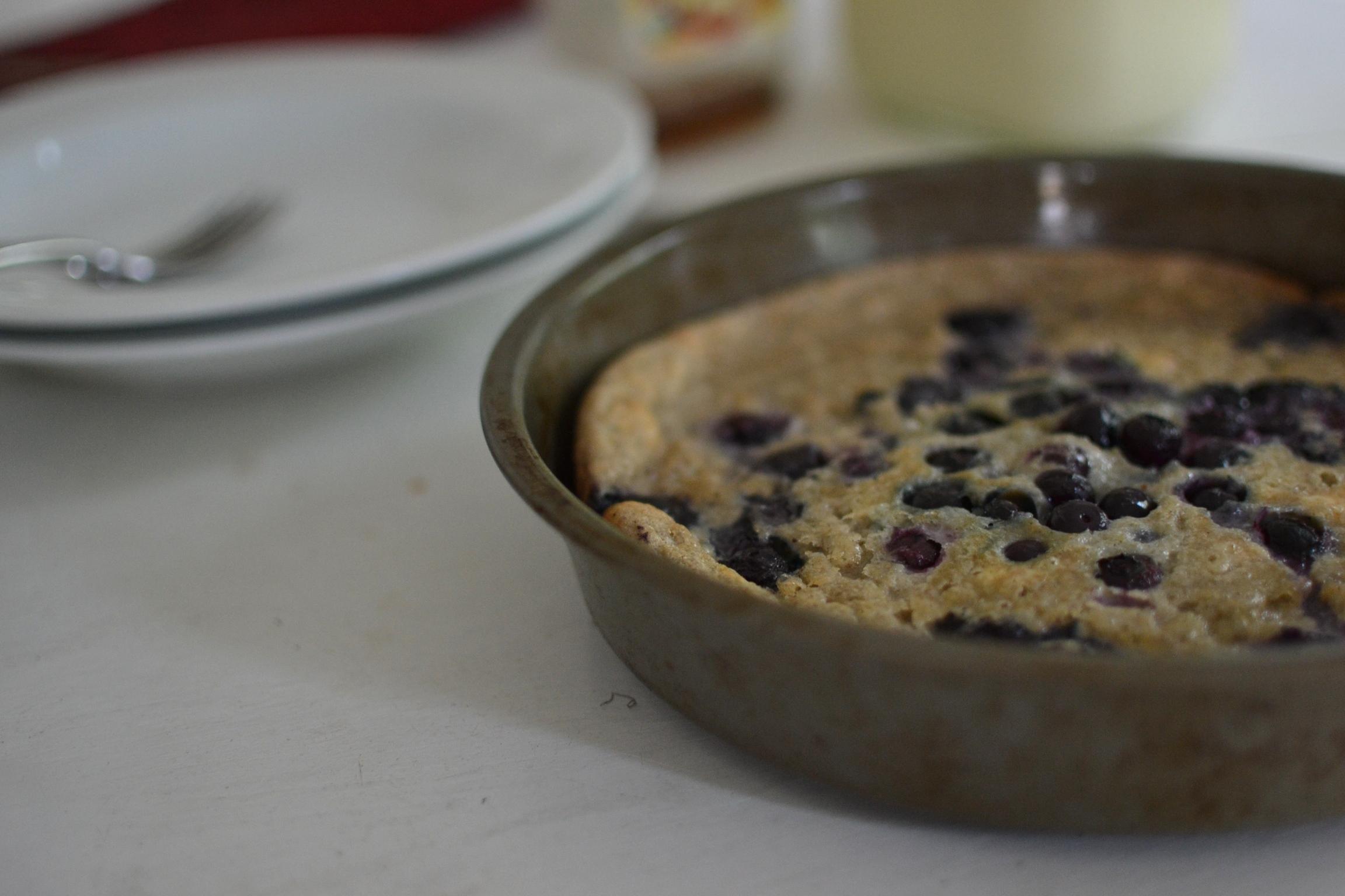 Blueberry Ginger Buckwheat Dutch Baby | Tending the Garden